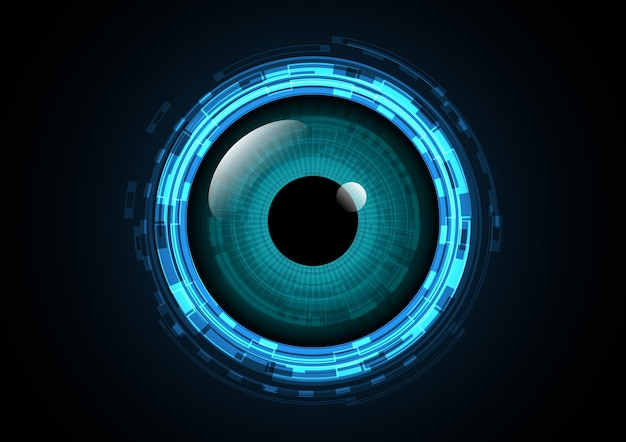 Abstract technology future eye background