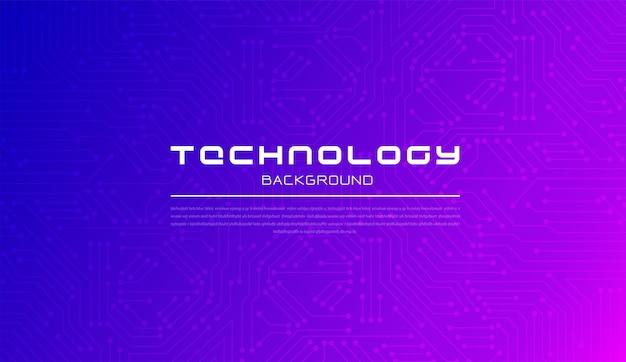 Абстрактная технология геометрической и системы связи розовый и синий фон концепция с цифровым