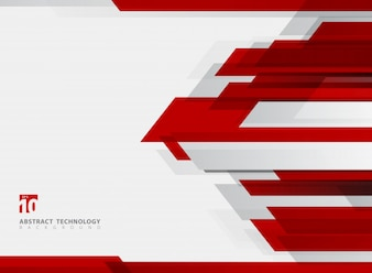 Abstract technology geometric red color background.