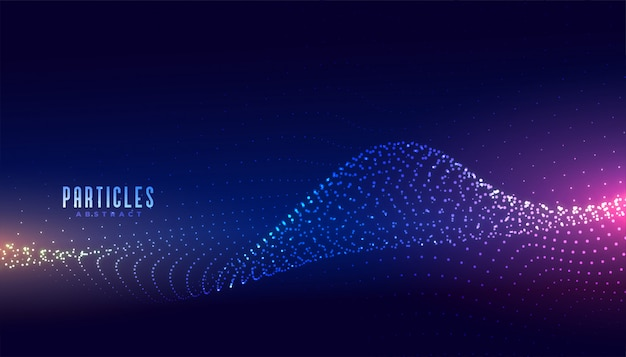 Abstract technology glowing wave particles background