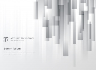 Abstract technology gray geometric vertical overlap