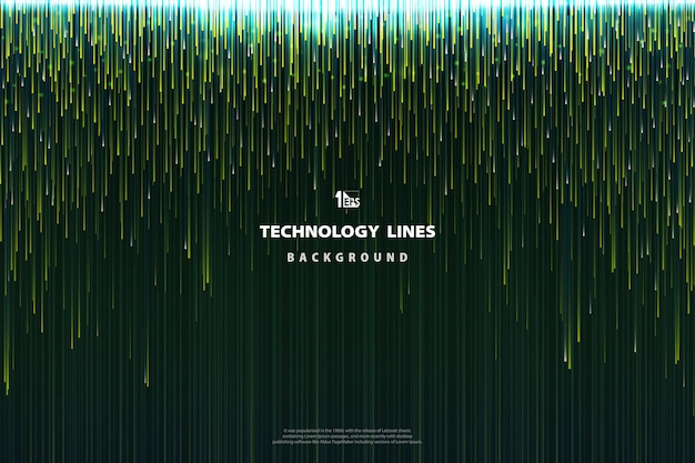 Abstract technology green lines design background