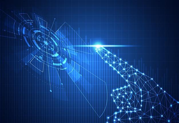 Абстрактные технологии ручной цифровой