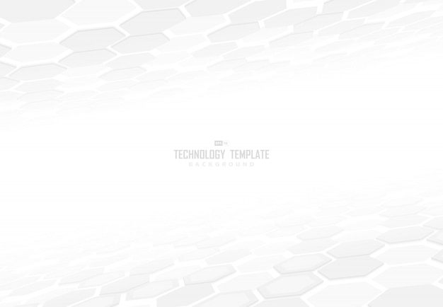 Abstract technology hexagonal pattern design of element perspective with shadow background.