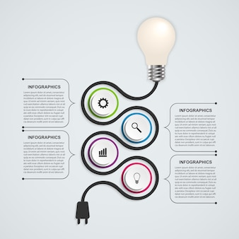 Abstract technology infographics design template.