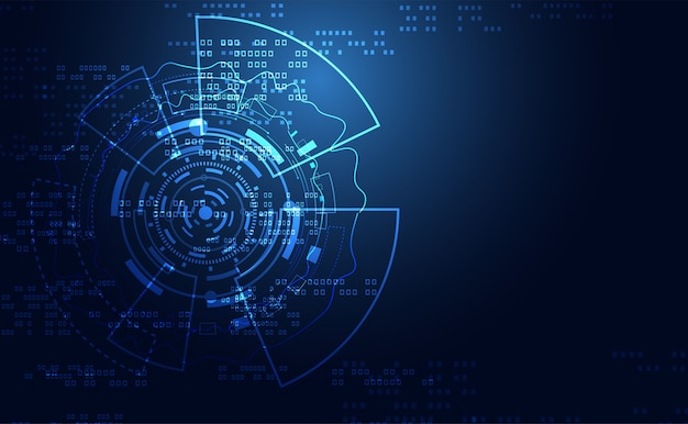 추상적 인 기술 혁신 미래 회로 보드