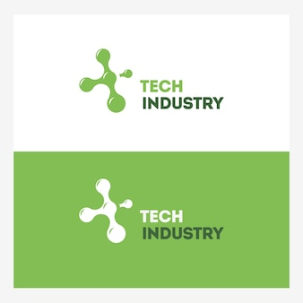 Abstract technology logo template.