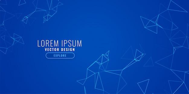 青色の背景に抽象的な技術ネットワークメッシュ