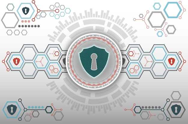 보안 배경의 추상 기술