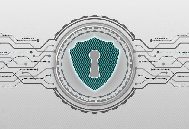 보안 시스템 배경의 추상 기술