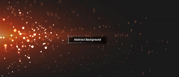 Abstract technology particle background