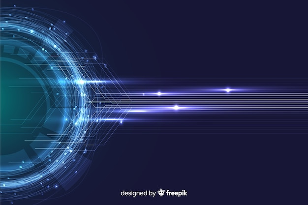 Abstract technology particle wallpaper