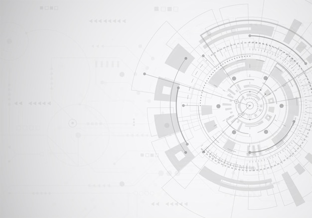 Abstract technology of science background. futuristic interface with geometric shapes. vector illustration