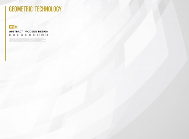 Abstract technology square of white gradient template design background.