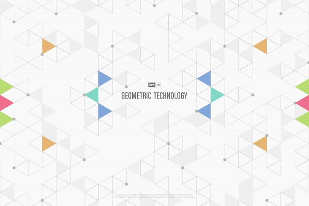 Abstract technology triangles decorative of business minimal design.