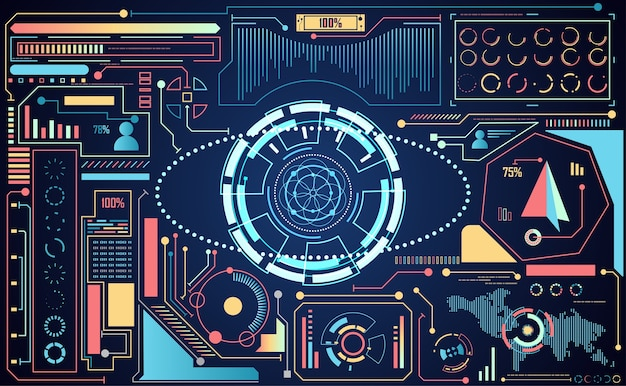 추상 기술 ui 미래 개념 인공 지능 인터페이스