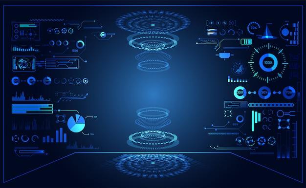 Абстрактная технология ui футуристическая концепция hud интерфейс голограммы