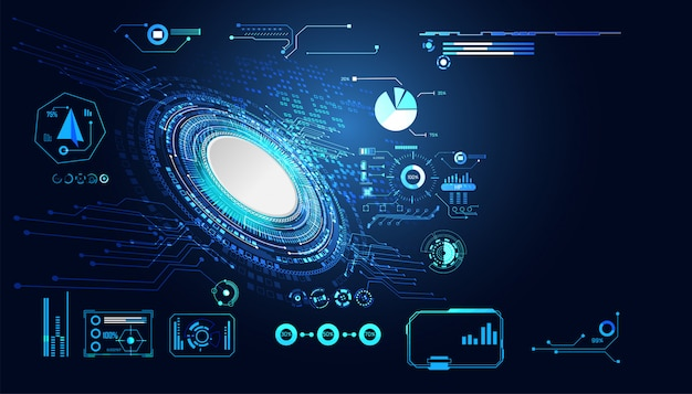 추상 기술 ui 미래 hud 인터페이스