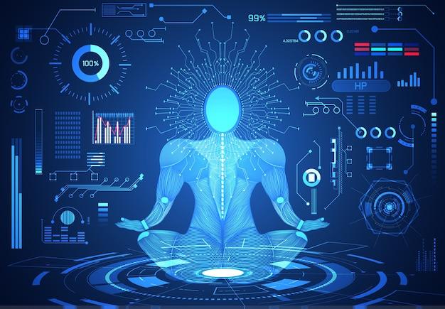 Abstract technology ui futuristic human body hud interface