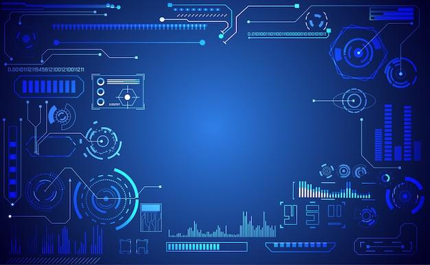 Abstract technology ui futuristic