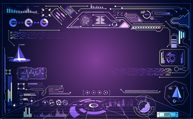 Abstract technology ui futuristic