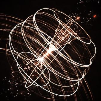 抽象技術、ベクトル製図、光沢のある空間の背景