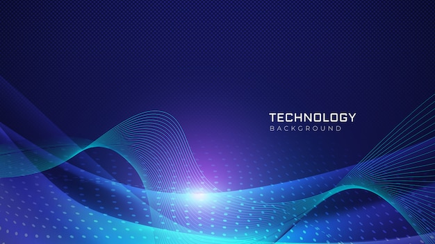 Abstract technology waves background