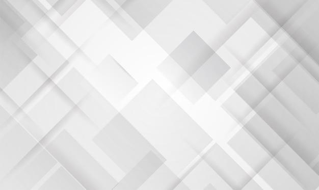 抽象技術白とグレーの色のモダンな背景デザイン、白の幾何学的な質感。ベクトルイラスト