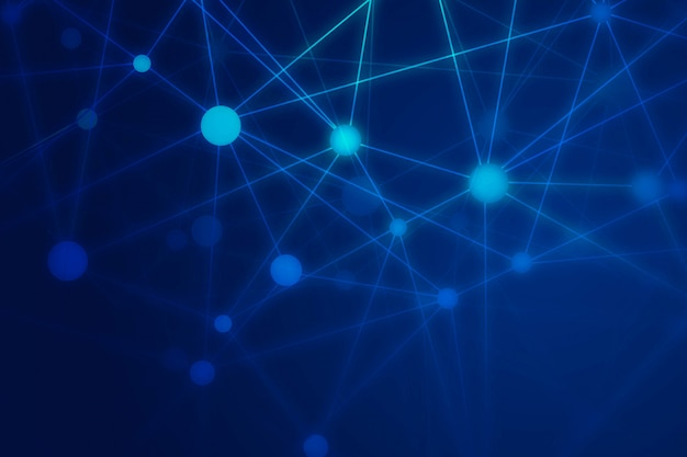 Abstract technology wire polygon background