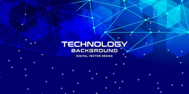 Abstract technology with geometric style