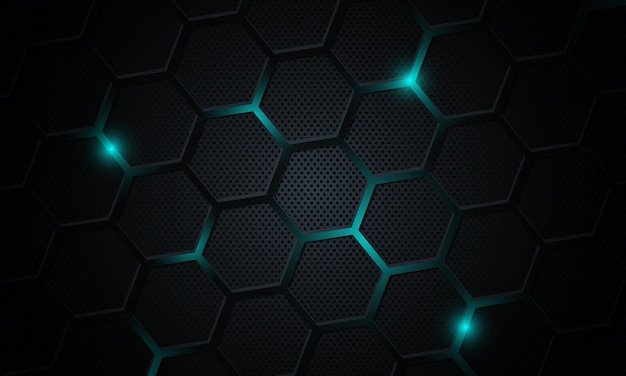 六角形の背景を持つ抽象的な技術。