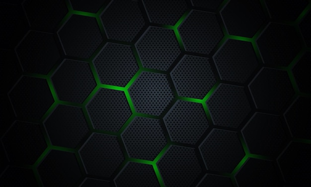 Abstract technology with hexagonal background.