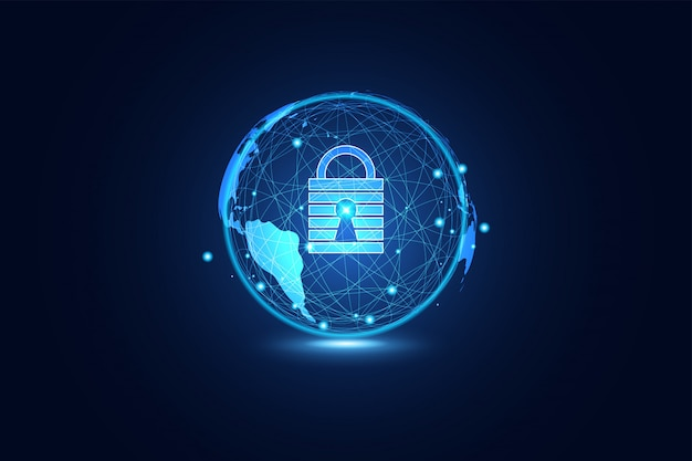 Abstract technology world cyber security