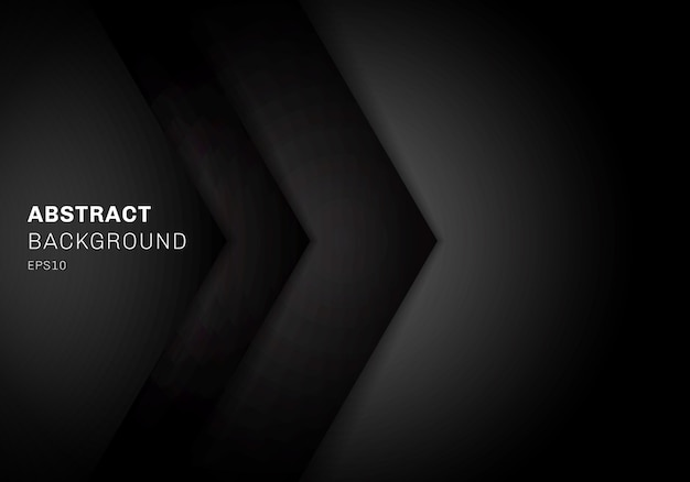 Abstract template 3d triangle black background.