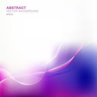 Abstract template blue and purple blurred background