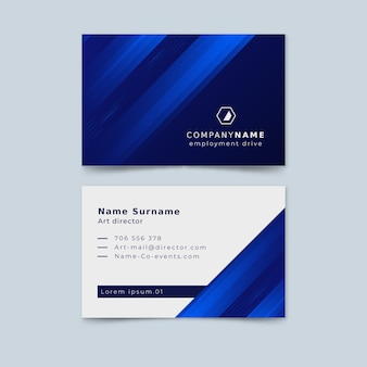 Abstract template business card collection