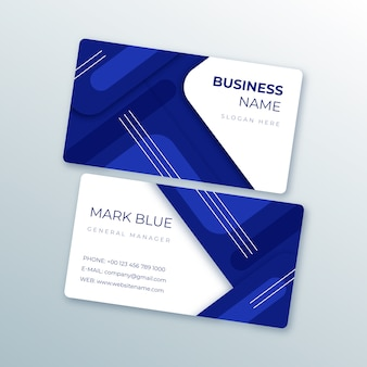 Abstract template business card set