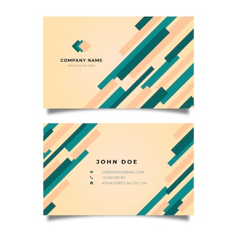 Abstract template for business card with lines