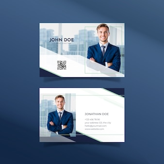 Abstract template business card with photo