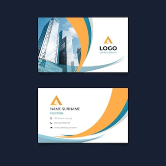 Abstract template for business card with photo