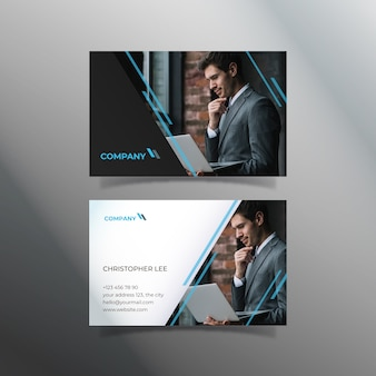 Abstract template business card with picture