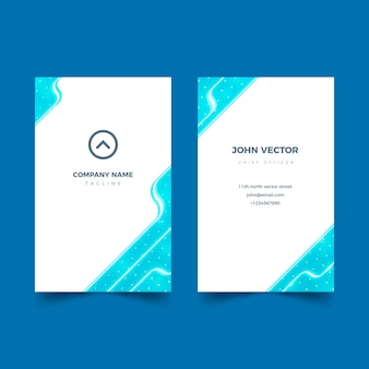 Abstract template for business card