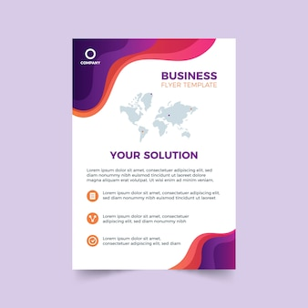 Abstract template for business flyer with details
