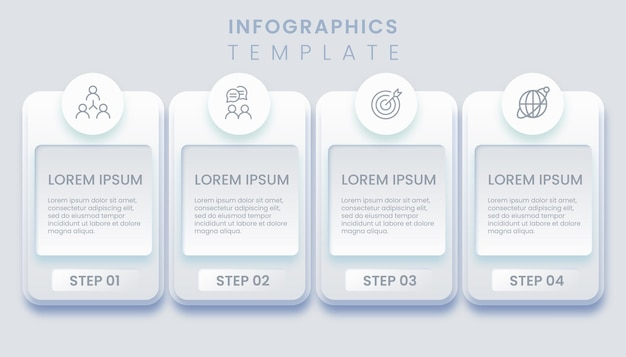 Abstract template business infographic illustration