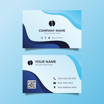 Abstract template collection business card