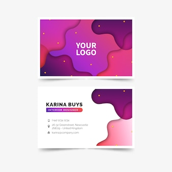 Abstract template colorful business card