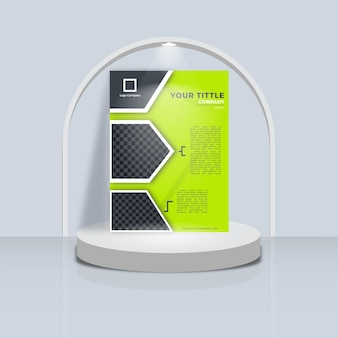 Abstract template design book cover with podium display