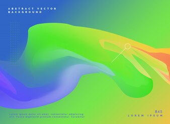 Abstract template design with green and blue colors