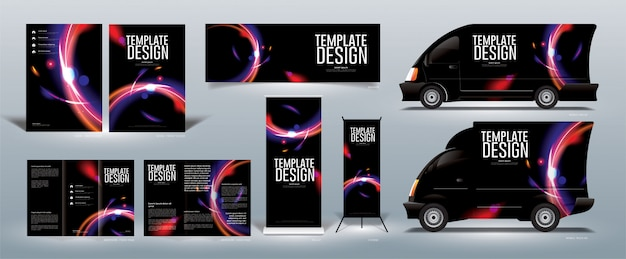 Abstract template design