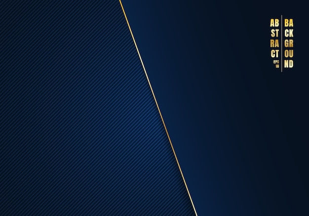 Abstract template diagonal lines blue background